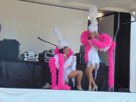 Fête communale 2018 Spectacle costume blanc et rose